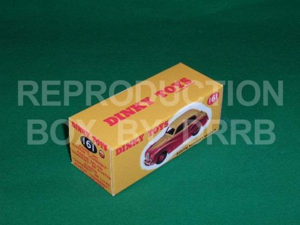 Dinky #161 Austin Somerset - Reproduction Box (  2-tone, Red & Yellow finish )
